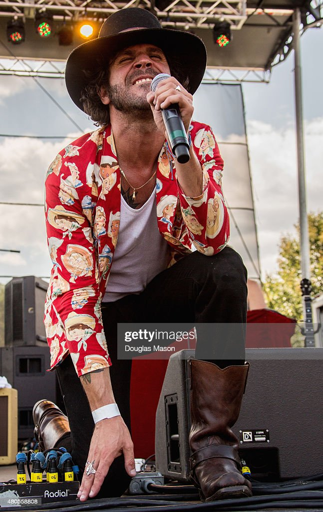 Langhorne Slim and the Law perform during the Green River Festival 2015 at Greenfield Community College on July 11, 2015 in Greenfield, Massachusetts.