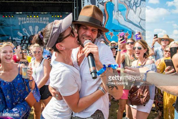 Langhorne Slim performs in the crowd during Pilgrimage Music Cultural Festival on September 24 2017 in Franklin Tennessee