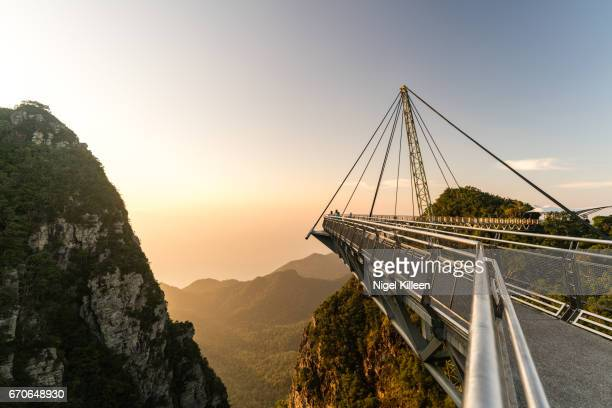 langkawi skybridge - elevated walkway stock pictures, royalty-free photos & images