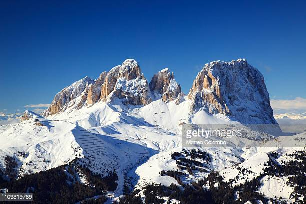 Langkofel group in the Dolomites