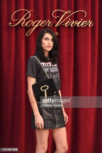 Langley Fox Hemingway attends the Roger Vivier Presentation Spring/Summer 2019 during Paris Fashion Week on September 27 2018 in Paris France