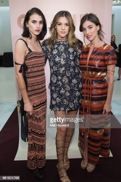Langley Fox Sistine Stallone and Rainey Qualley the Chanel Ephemeral Boutique opening at Nordstrom on November 28 2017 in Seattle Washington