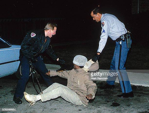 Langley Park Md 351988 Members of the Prince Georges County Maryland Police department use a K9 dog to subdue a suspected crack cocaine dealer who...