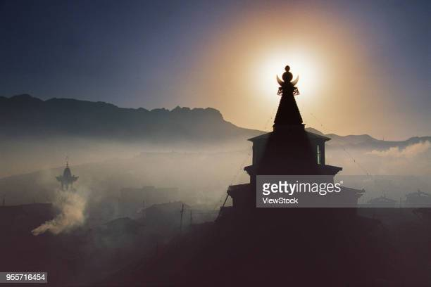 langmu temple,gansu province,china - gansu province stock pictures, royalty-free photos & images