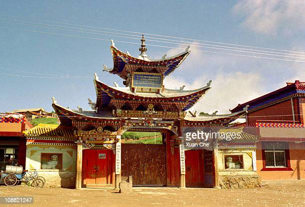 langmusi elementary school - xuan che stock pictures, royalty-free photos & images
