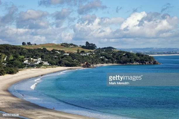 langs beach near whangarei - whangarei heads stock pictures, royalty-free photos & images