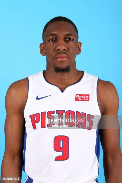 Langston Galloway of the Detroit Pistons poses for a head shot during media day at Little Caesars Arena in Detroit Michigan on September 25 2017 NOTE...