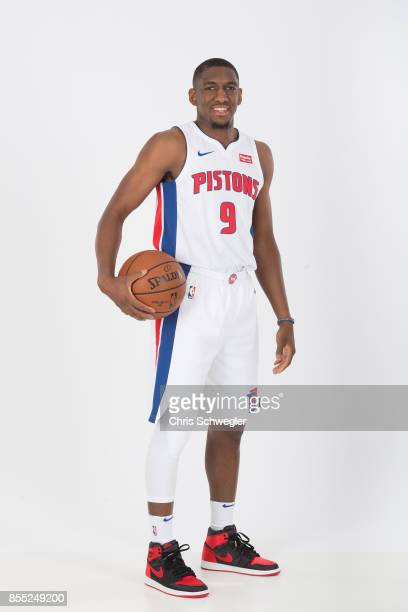 Langston Galloway of the Detroit Pistons poses for a portrait during Media Day on September 25 2017 at the Little Caesars Arena Detroit MI NOTE TO...