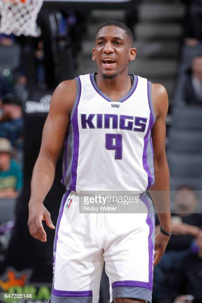 Langston Galloway of the Sacramento Kings looks on during the game against the Minnesota Timberwolves on February 27 2017 at Golden 1 Center in...