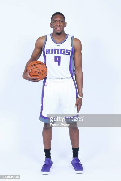 Langston Galloway of the Sacramento Kings poses for a photo on February 24 2017 at the Golden 1 Center in Sacramento California NOTE TO USER User...