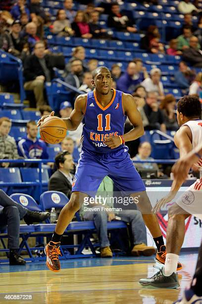 Langston Galloway of the Westchester Knicks dribbles against the Delaware 87ers at the University of Delaware Frank Acierno Arena on December 28 2014...