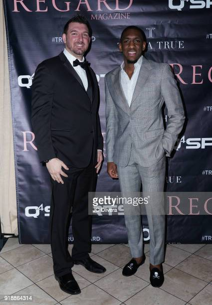 Choice Skinner and guest attend Regard Magazine 2018 NBA AllStar PreParty hosted by Derek Fisher at Soho House on February 15 2018 in West Hollywood...