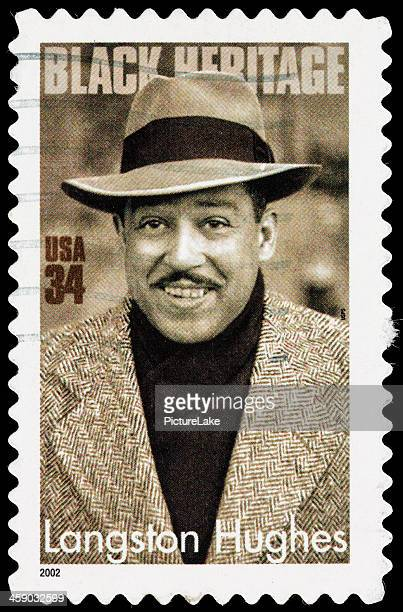 usa langston hughes postage stamp - famous authors stock pictures, royalty-free photos & images