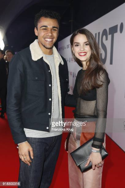 Langston Uibel and Luise Befort attend the Young ICONs Award in cooperation with ICONIST at Spindler&Klatt on February 14, 2018 in Berlin, Germany.