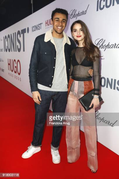 Langston Uibel and Luise Befort attend the Young ICONs Award in cooperation with ICONIST at SpindlerKlatt on February 14 2018 in Berlin Germany