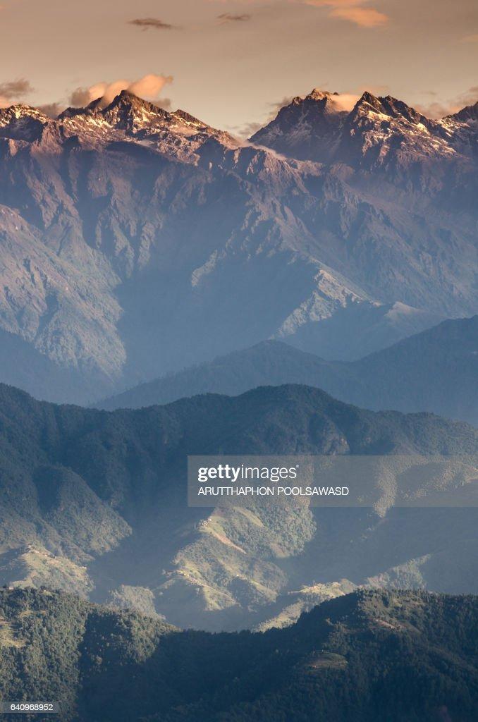 Langtang region , Himalayas , High Mountain of the world , Nepal : Stock Photo