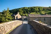 Langthwaite village, Yorkshire Dales, England