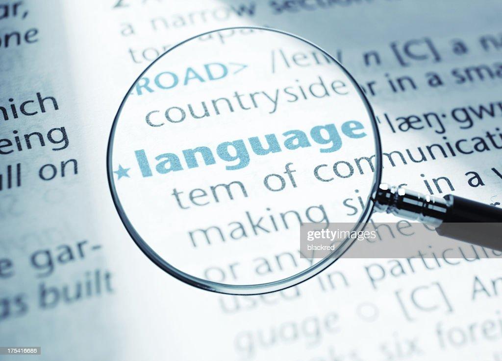 Language : Stock Photo