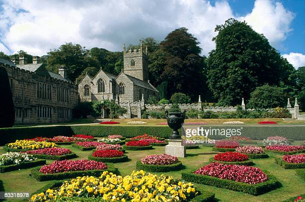 lanhydrock house gardens, cornwall - grounds stock pictures, royalty-free photos & images
