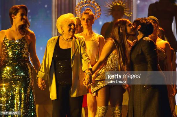 Lani Grande Marjorie Grande Ariana Grande and Joan Grande onstage during 2018 MTV Video Music Awards at Radio City Music Hall on August 20 2018 in...