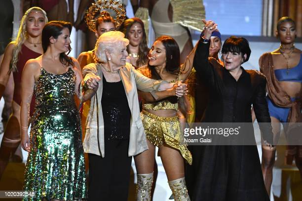 Lani Grande Marjorie Grande Ariana Grande and Joan Grande perform onstage during the 2018 MTV Video Music Awards at Radio City Music Hall on August...