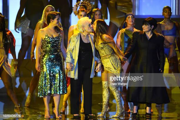 Lani Grande Marjorie Grande Ariana Grande and Joan Grandeperforms onstage during the 2018 MTV Video Music Awards at Radio City Music Hall on August...