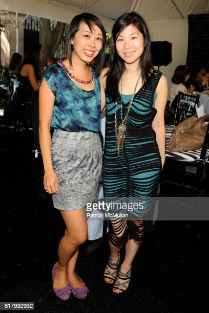 Lani Nguyen and Erin Lee attend Cynthia Rowley Summer/Spring 2011 Reception With Johnson Johnson at Cooper Hewitt Museum on September 11 2010 in New...