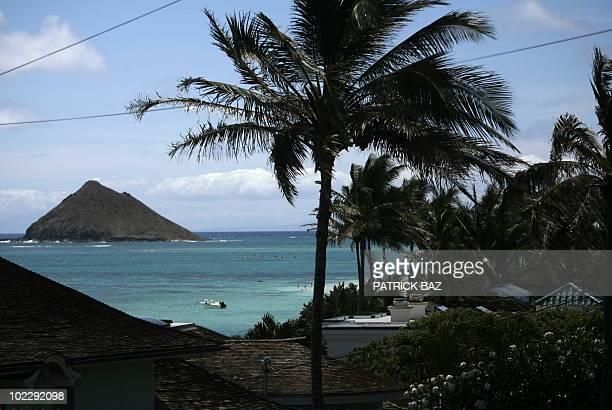 Lanikai beach in Hawaii is seen on June 15 2010 AFP PHOTO / PATRICK
