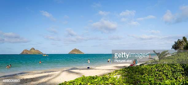 Lanikai Beach panorama, Oahu, Hawaii