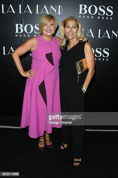 Lanita Layton and Dawn Bellini attends 'La La Land' After Party Hosted By Hugo Boss at Lavelle on September 12 2016 in Toronto Canada