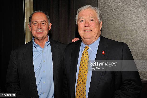 Lanny Griffith and former Mississippi Governor Haley Barbour attend Mastro's Steakhouse Grand Opening Celebration at Mastro's Steakhouse on May 6...
