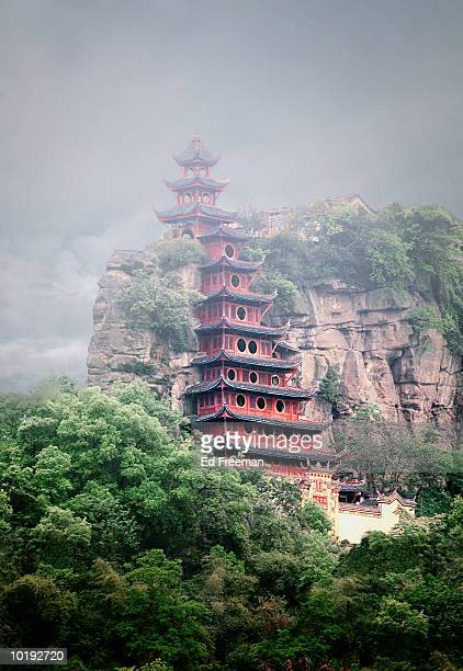 lanruodian buddhist temple, wanxian, chongqing, china - local landmark stock pictures, royalty-free photos & images