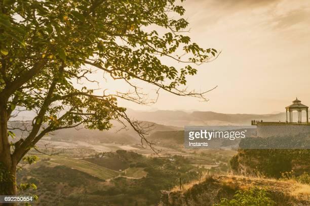 lanscape ラ ロンダの美しいスペイン語州のマラガ アンダルシア。 - málaga málaga province ストックフォトと画像