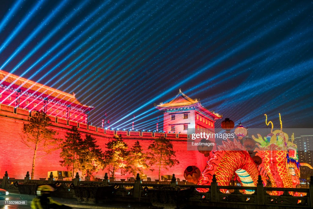 City Of South Gate >> Lantern And Lighting Show At South Gate Of Ancient City Wall