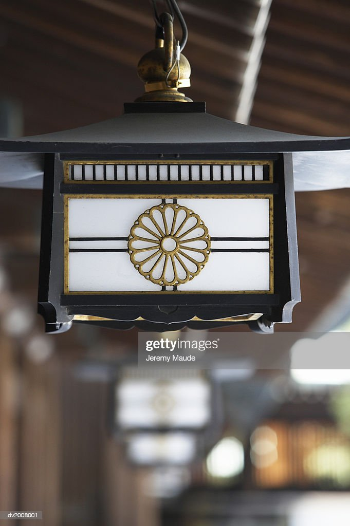 Lantern at a Shrine, Harajuku, Tokyo, Japan : Stock Photo