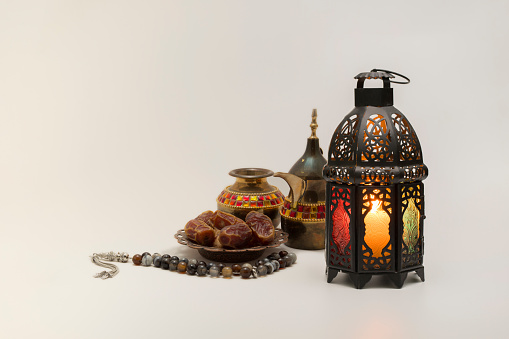 Lantern, Dates fruits with rosary and Coffee pot 946257600