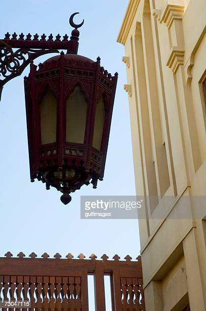 Lantern hanging on the post and Wind Tower