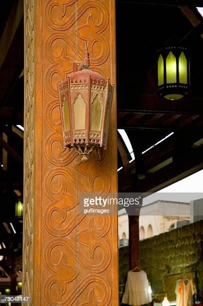 Lantern hanging on the wall