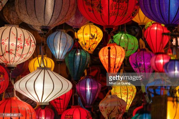 lantern in night at hoi an old town or hoian ancient town - chinese lantern festival stock pictures, royalty-free photos & images