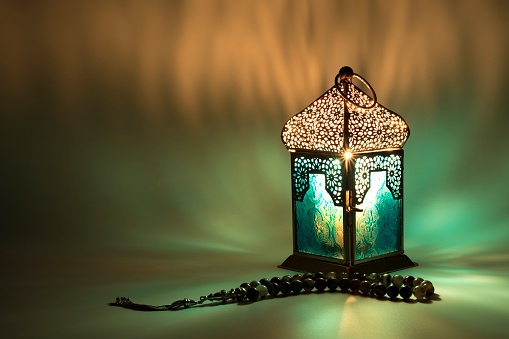Lantern reflects a special colored lights 944724262