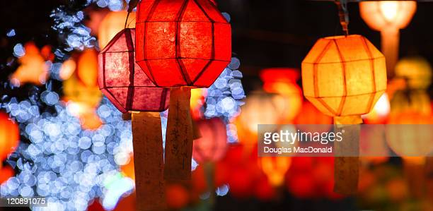 Lanterns and lights at Korean New Year Festival