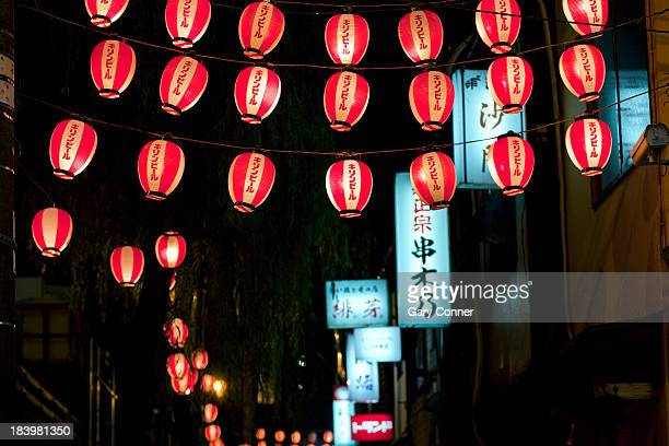 Lanterns at restaurant alley