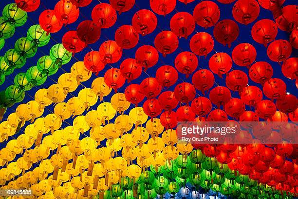 lanterns for buddha - buddha's birthday stock pictures, royalty-free photos & images