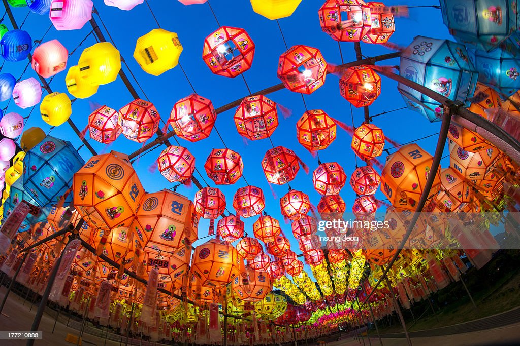 Lanterns for buddha's birthday : Stock-Foto