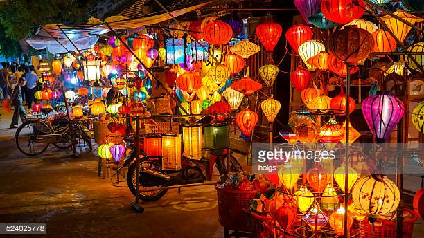lanterns in hoi an, vietnam - vietnam stockfoto's en -beelden