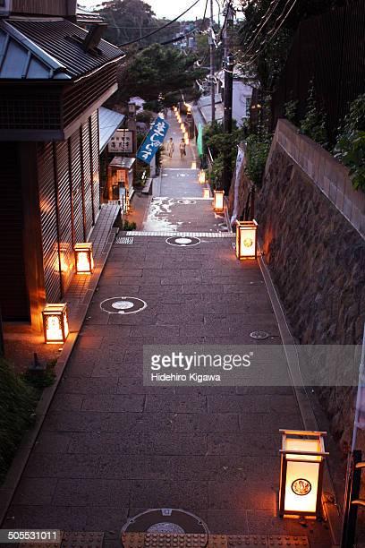 Lanterns on the street in Enoshima