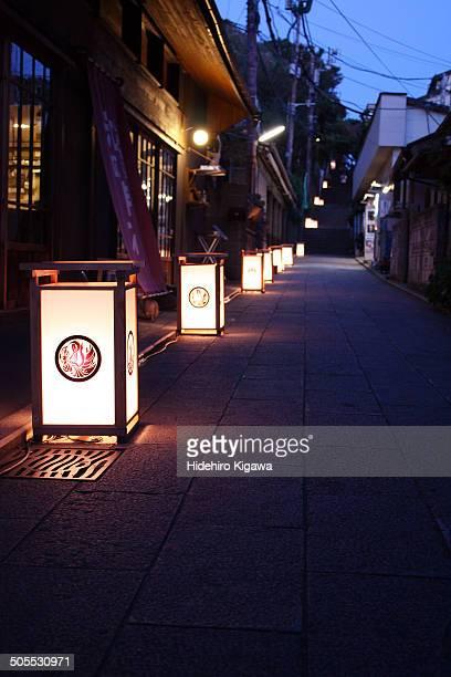 Lanterns on the street