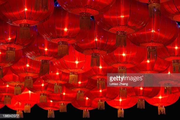 Lanterns show for the Chinese Lantern Festival on February 6 and traditionally marks the end of the Lunar New Year celebrations on February 6 2012 in...