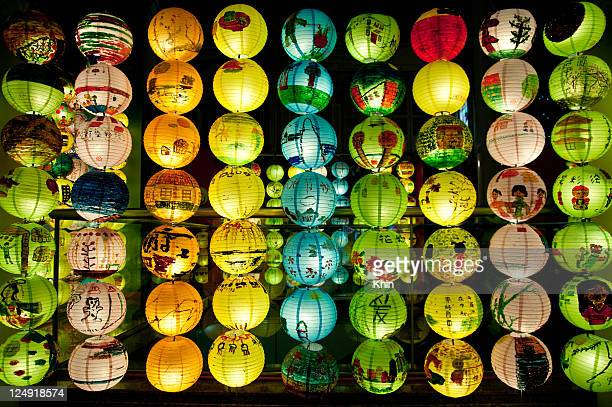 Lanterns wall