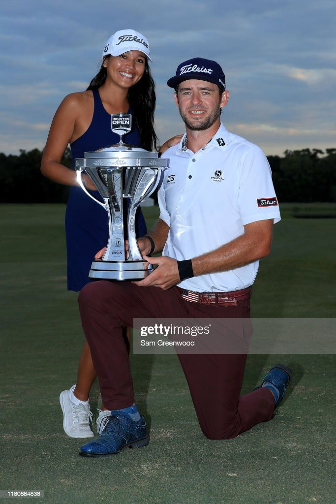 Lanto Griffin and girlfriend Maya Brown pose with the trophy after ...